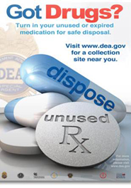 Taking Back Unwanted Prescription Drug Day-April 26, 2014